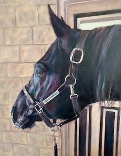 Oil painting of horse_