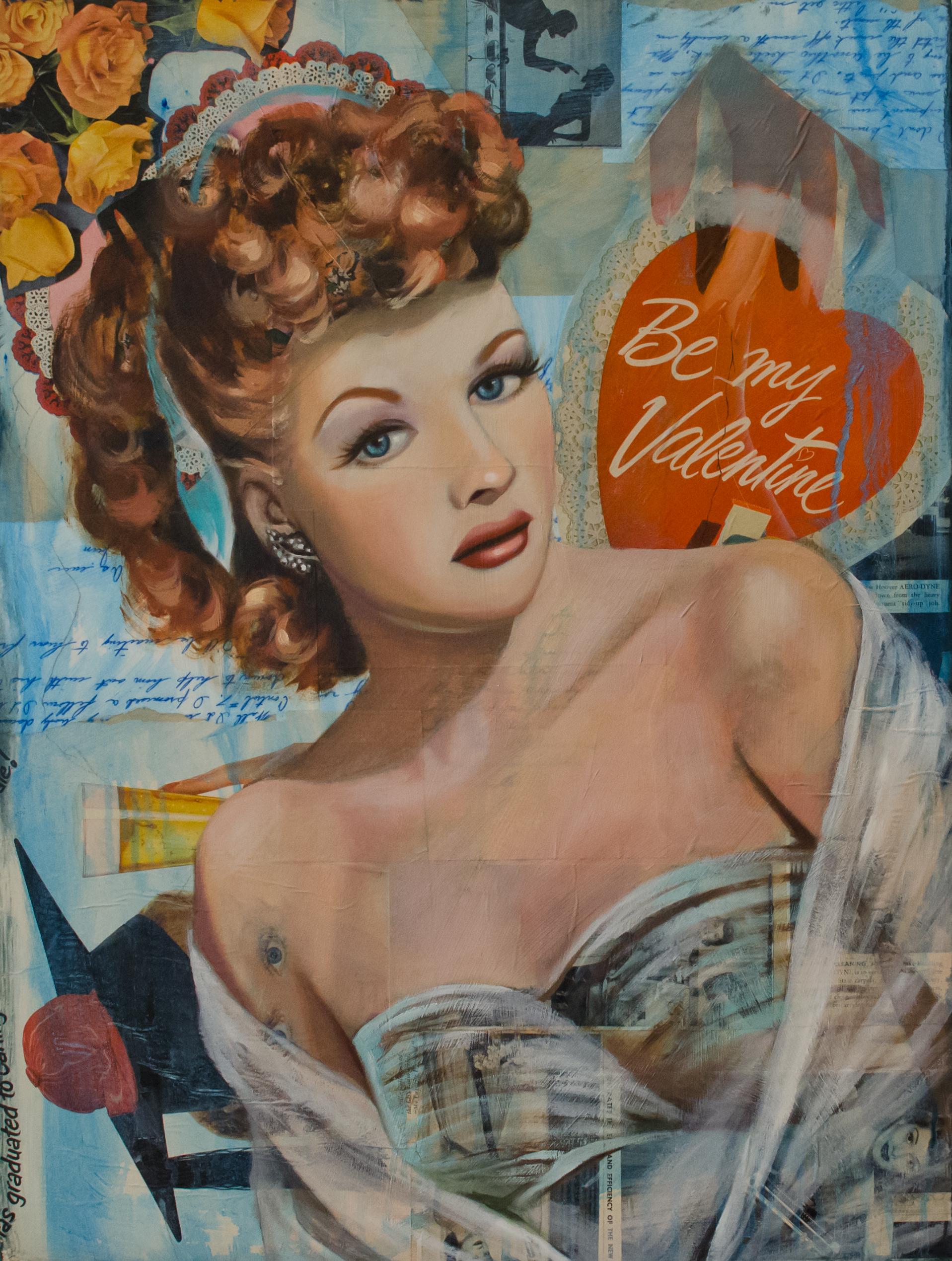 collage portrait of lucille ball