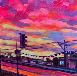 Arizona Sky, acrylic painting of an Ariz