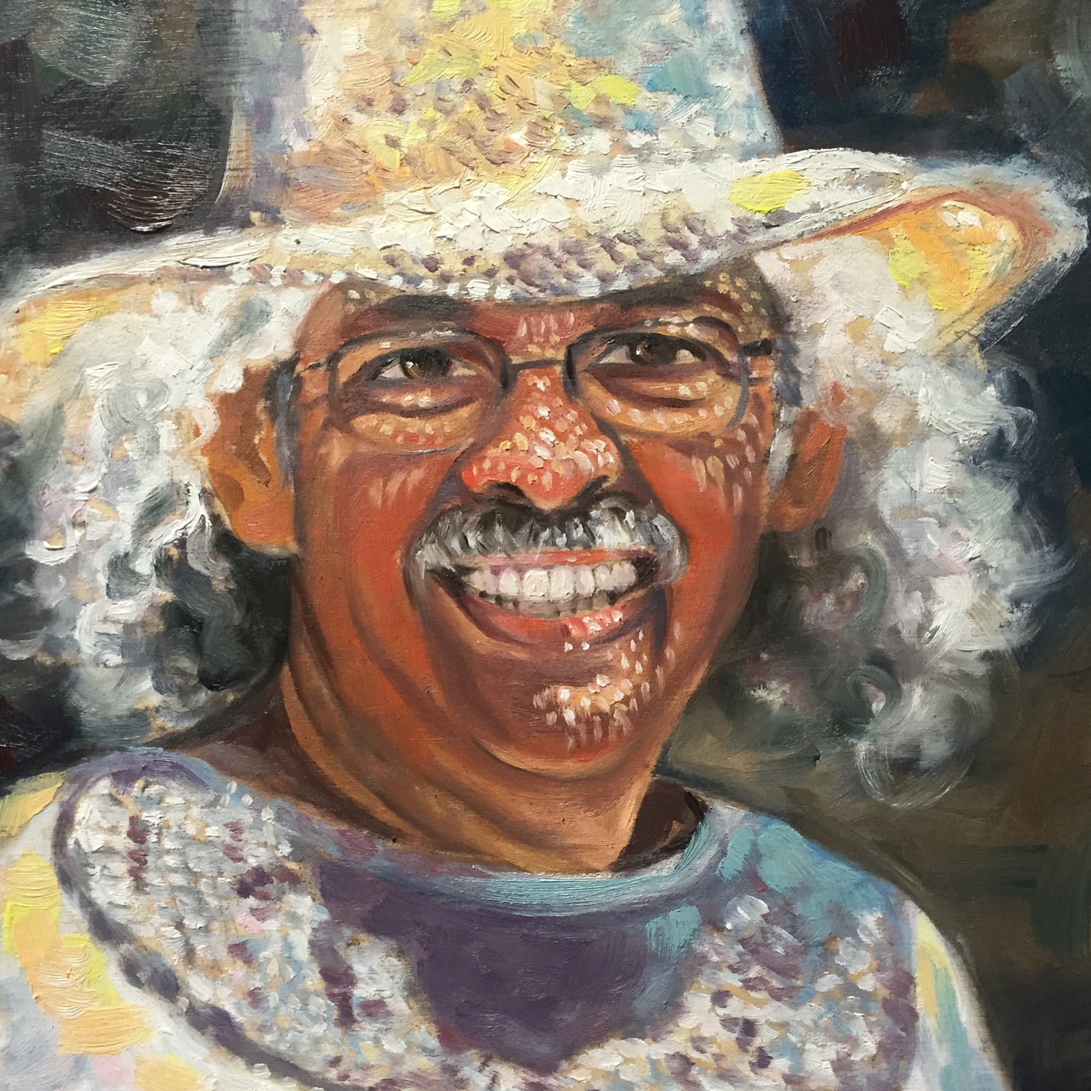 Oil portrait of Pablo Rivera, Jacksonville Florida_