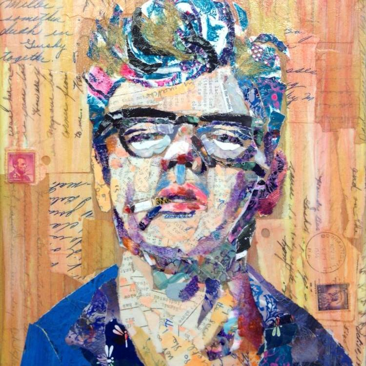 collage portrait of James Dean