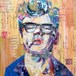 collage portrait of James Dean