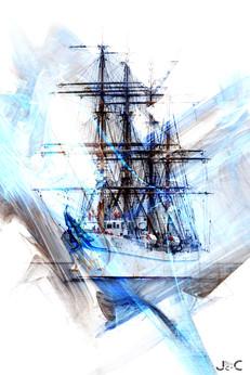 Voilier en mer V2