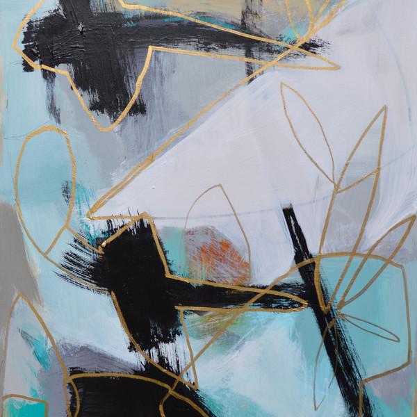Gold Line On Blue II