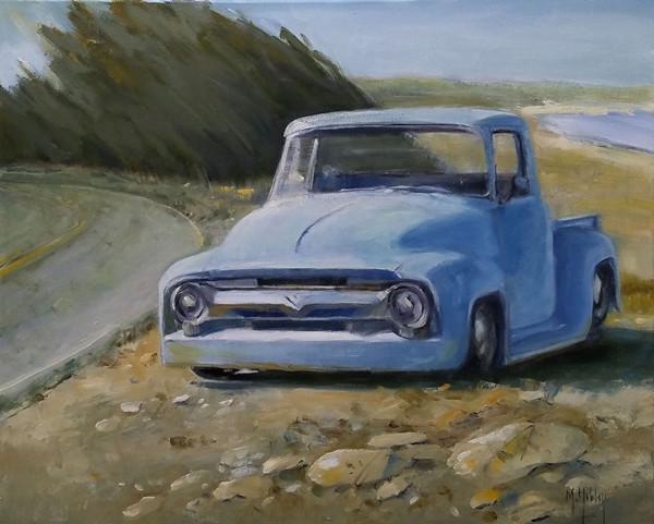 Blue Truck at Bodega Bay
