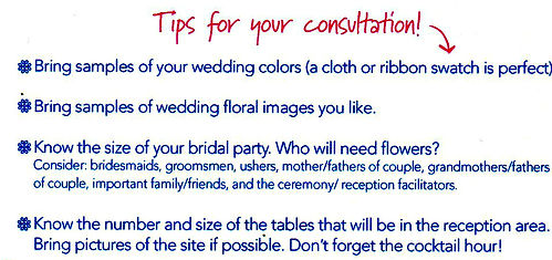 Tips for your wedding flower consultation