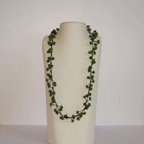 Collier « Cerisier » vert