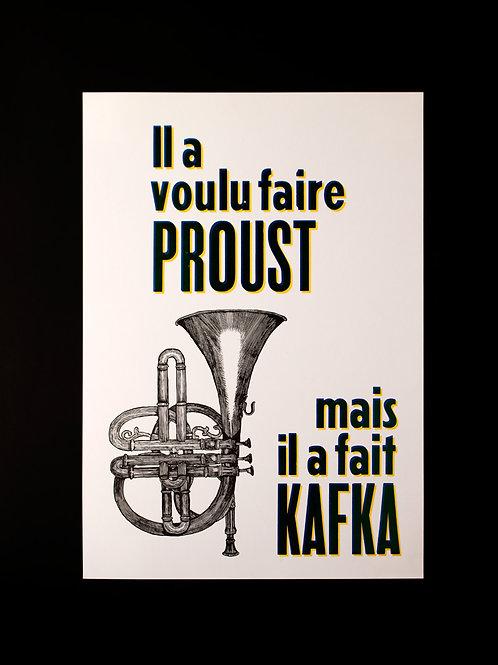 """Affiche """"Proust et Kafka"""""""