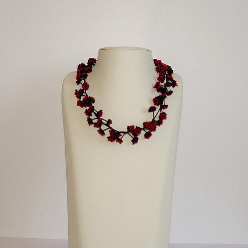 Collier « Cerisier » violet/rouge