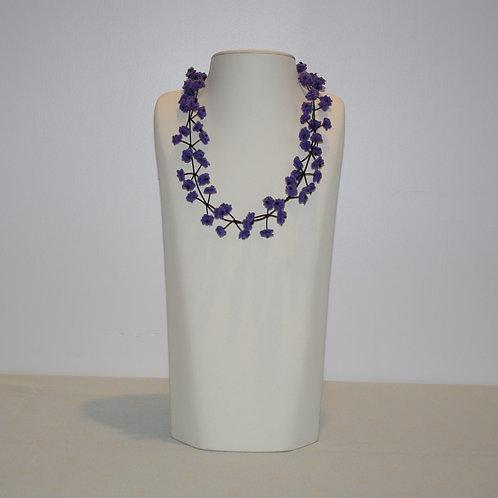 Collier « Cerisier » bleu-violet