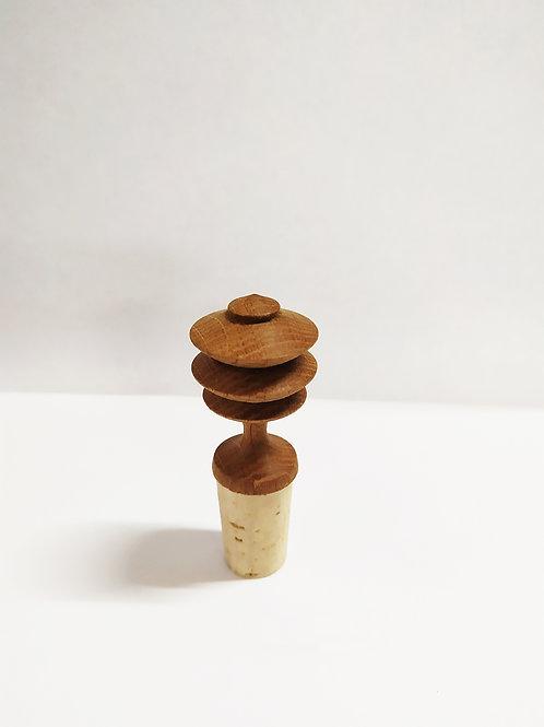 Bouchon bouteille hêtre chêne noyer (réservé)