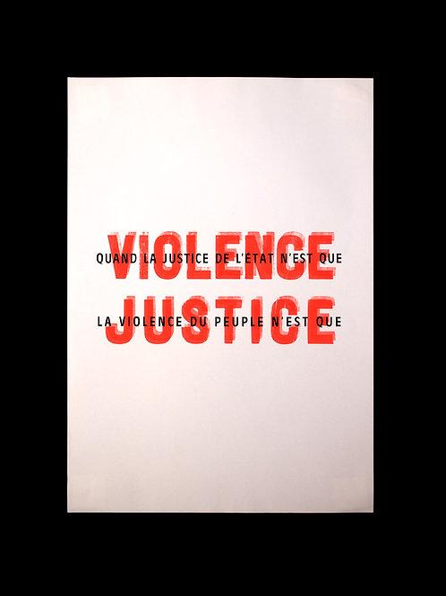 """Affiche """"Violence-Justice"""""""