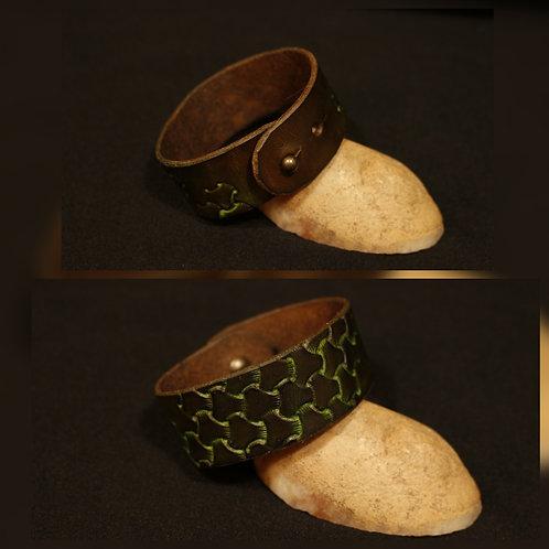 Bracelet marron vert