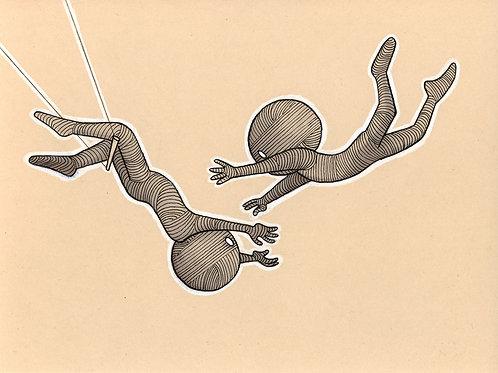 Carte postale « Trapézistes »