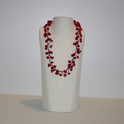 Collier « Cerisier » rouge