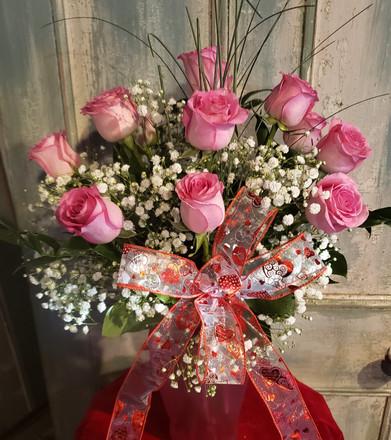 Prissy Pink Dozen Roses