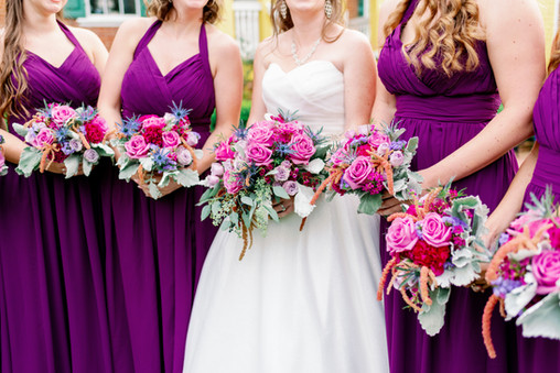 Purple Bouquet Wedding