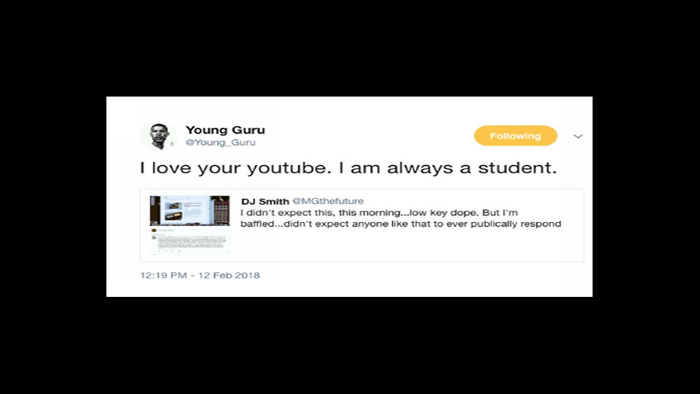 Young Guru gives props to MG The Future.