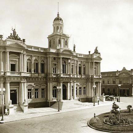 Fachada do Paço. Foto: 1910.
