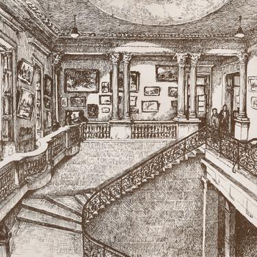 Interior do Paço.  Martha de Wagner-Schdrowitz, 1940.