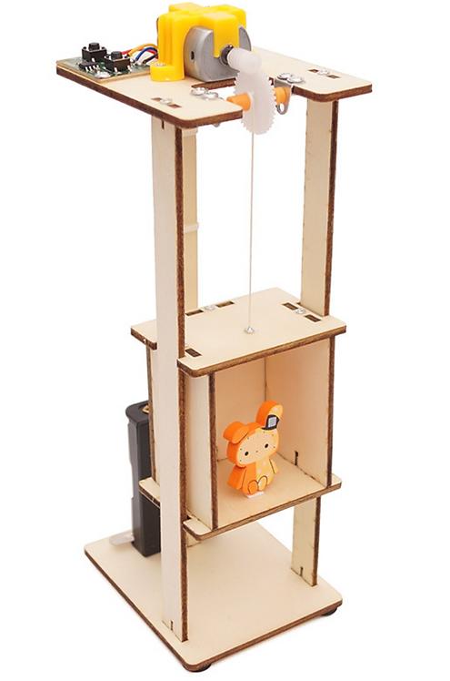 【DIY親子共創STEM科普玩具】漫步雲端電動升降機- 6歲以上適用科學教具,親子同樂共創成果