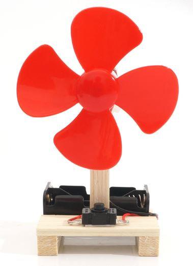 【DIY親子共創STEM科普玩具】童趣歡樂小風扇- 6歲以上適用科學教具,親子同樂共創成果