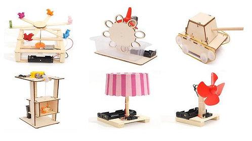 【DIY親子共創STEM科普玩具】★六款科普玩具★(含運費)