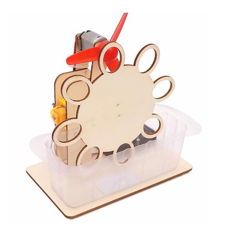 【DIY親子共創STEM科普玩具】幻彩流星自動吹泡泡機- 6歲以上適用科學教具,親子同樂共創成果