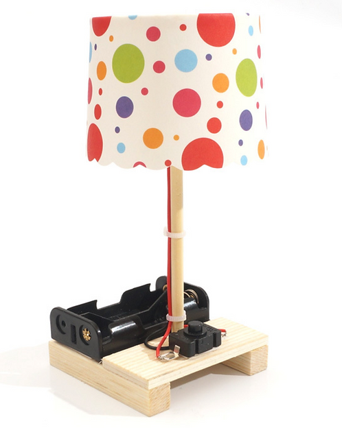 【DIY親子共創STEM科普玩具】繽紛幻影小檯燈(燈罩隨機出貨)- 6歲以上適用科學教具,親子同樂共創成果