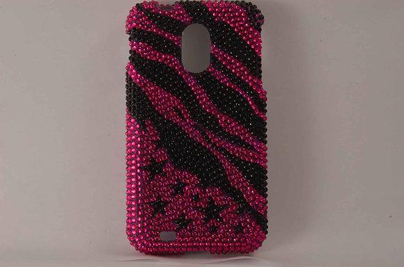Pink/Black Jewels Case for Samsung D710 - 711