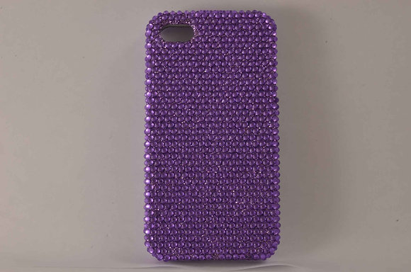 Purple Studded iPhone 4/4S - 1289