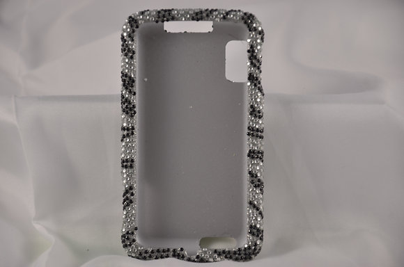 Black and White Studded Case for Moto Atrix-948