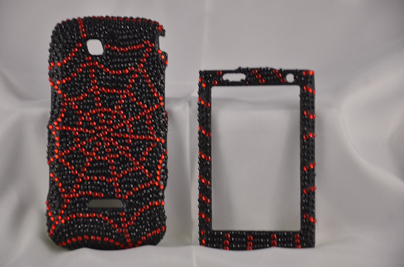 Studded Black and Red Sidekick 4G Case-1082
