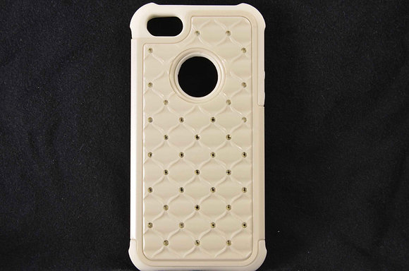 Studded White iPhone 5 Case - 2263