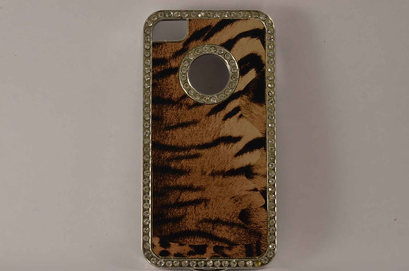 Studded w/ Tiger Hard Case for iPhone 4/4S - 1811