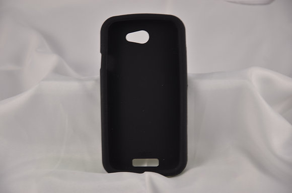 Black HTC One S Jelly Case-1837