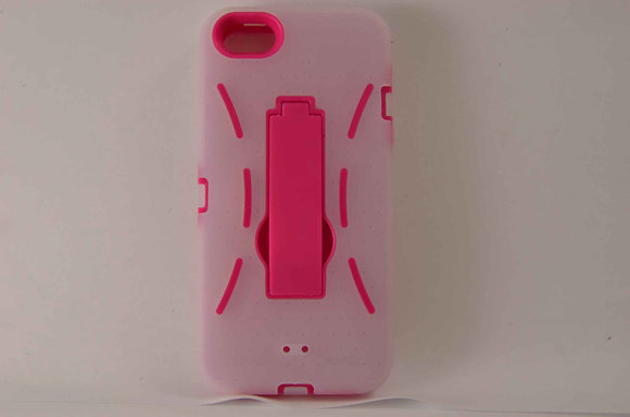 Pink iPhone 5 Premium Hybrid Case - 2094