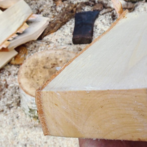 Splitting wood for spoon carving - the basics