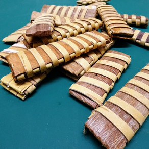 how to make a woven bark knife sheath