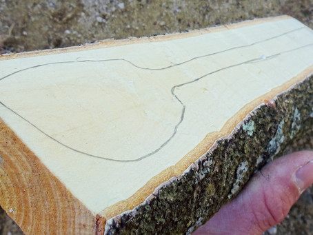 splitting wood for spoon carving - part.2