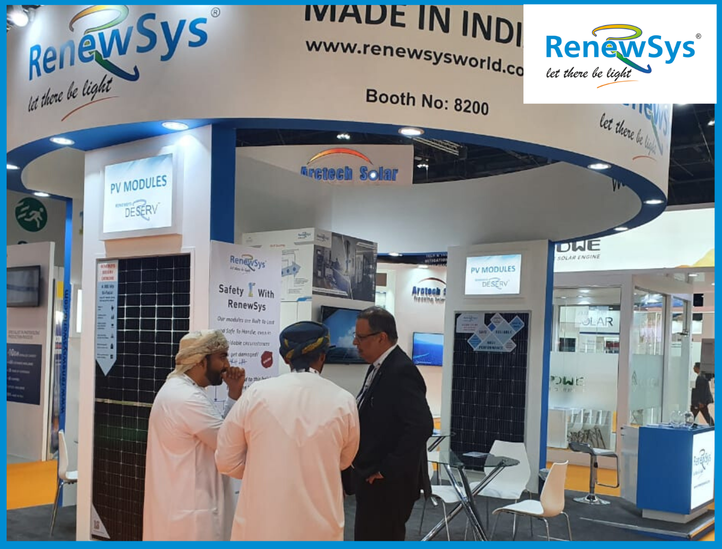 RenewSys booth at WFES 2020, Abu Dhabi