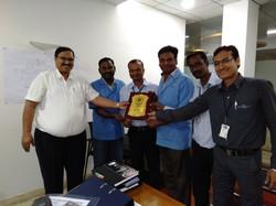 Sparkers Quality Circle Team Award hando