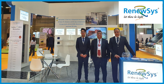 RenewSys booth at WFES - Team RenewSys