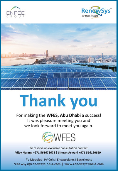 A big Thank you for meeting us at WFES