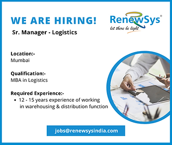 We are hiring-Sr. Manager Logistics.png