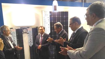 Mr. Sugandh rajaram at RenewSys stall in