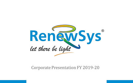 RenewSys India Pvt. Ltd. World class products - Made in India