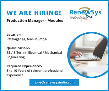 We are hiring-Production Manager, Module