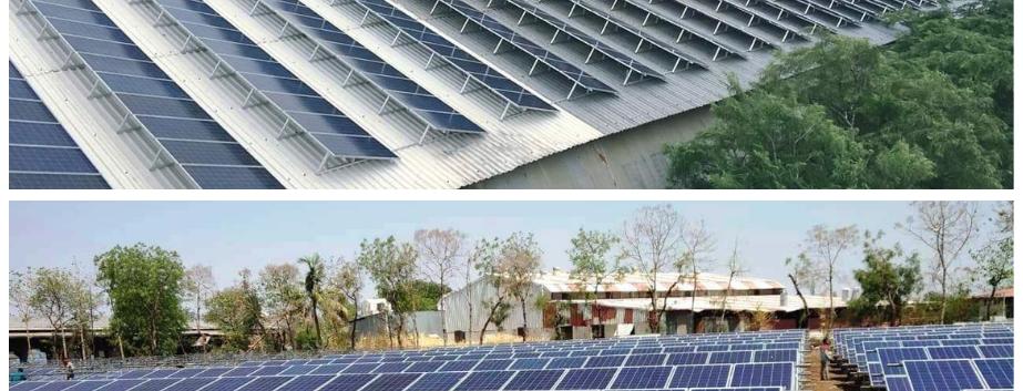 RenewSys PV Module - 800 KW installation, India