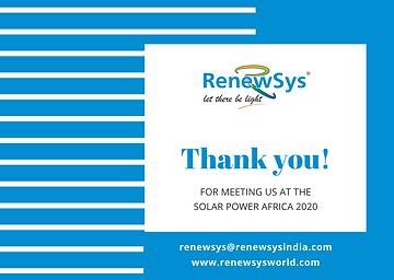 Thank you for meeting RenewSys at Solar